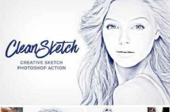 1702068 CleanSketch - Photoshop Action 718978 2