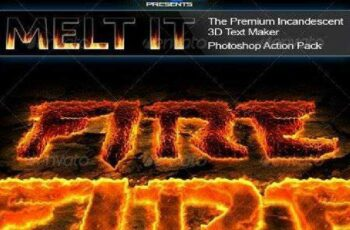 1702075 Melt It The Premium Incandescent 3D Text Maker 162005 2