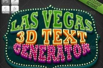 1702145 1-Click Action Las Vegas 3D Text Generator 781836 4