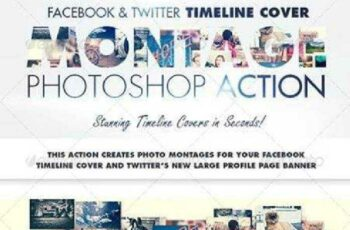 1702150 Facebook & Twitter Timeline Cover Montage Action 7496328 2