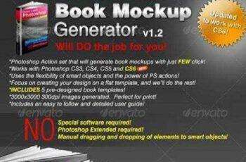 1702166 Book Mockup Generator v1.0 Actions & Templates Set 112751 5