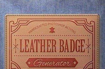 1702187 Leather Badge Generator - Photoshop Actions 8376002 3