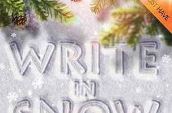1702285 Snow Writing Photoshop Actions for Winter Time 9442971 5