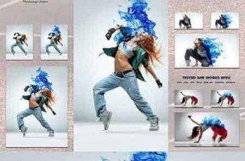 1702301 Blue Fire - Photoshop Action 1167739 5