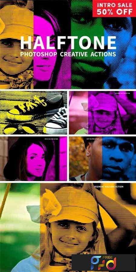 1702327 Color Halftone Photoshop Actions 1149600 - FreePSDvn