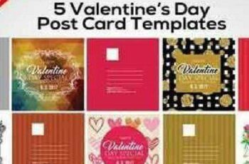 1702357 5 Valentines Day Post Cards 1198763