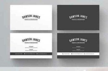 1702377 Black & White Business Card 984343 4