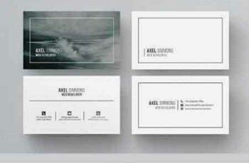 1702391 Modern & Clean Business Card 984244 5