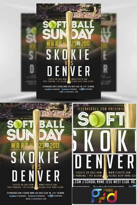 1702399 softball sunday flyer template freepsdvn
