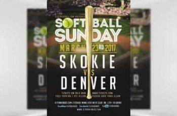 1702399 Softball Sunday Flyer Template 6