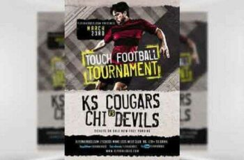 1702400 Touch Football Tournament Flyer Template 7