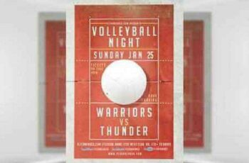 1702401 Volleyball Night Flyer Template 6
