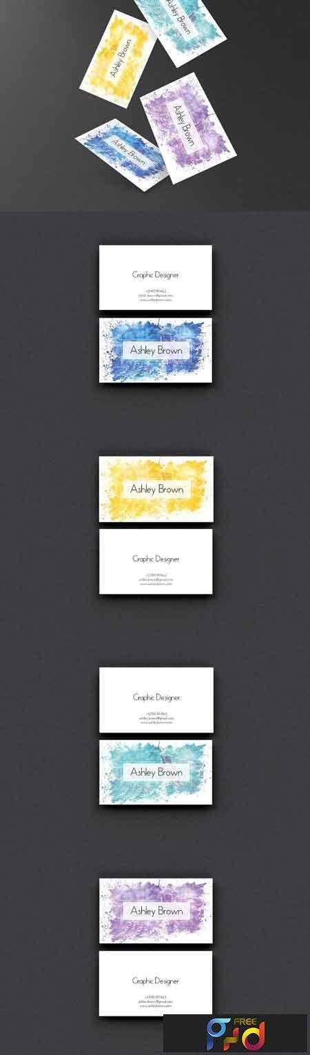 1702418 watercolor business card template 1171811 free psd