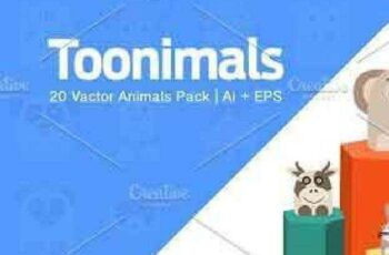 1702425 Toonimals Cute Animals Vector Pack 1 1152775 3