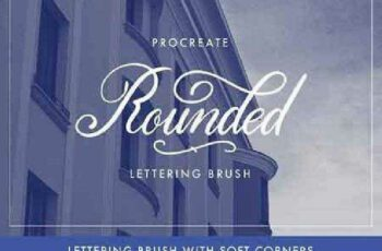 1702429 Procreate Lettering Brush - Rounded 1171850 5