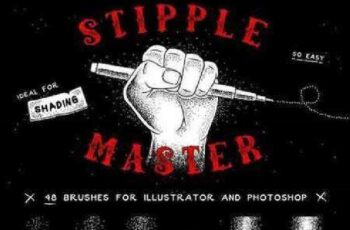 1702431 Stipple Master AI & PS Brushes 1173694 2
