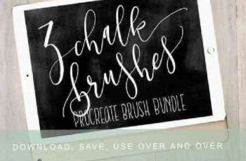 1702435 4 Procreate Chalk Brush Bundle 1159120 4