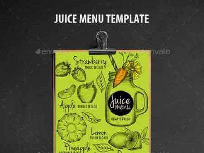 1702463 juice bar menu template 16963365  u2022 freepsdvn