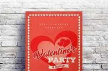1702475 Valentines Day Retro Flyer #03 4