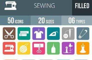 1702479 50 Sewing Flat Round Corner Icons 1152774 7
