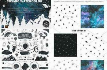 1702482 Cosmic watercolor DIY Pack vol.2 1142113