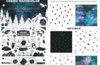 1702482 Cosmic watercolor DIY Pack vol.2 1142113 3