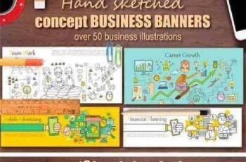 1702487 Hand Sketched BUSINESS BANNERS 1188554 4