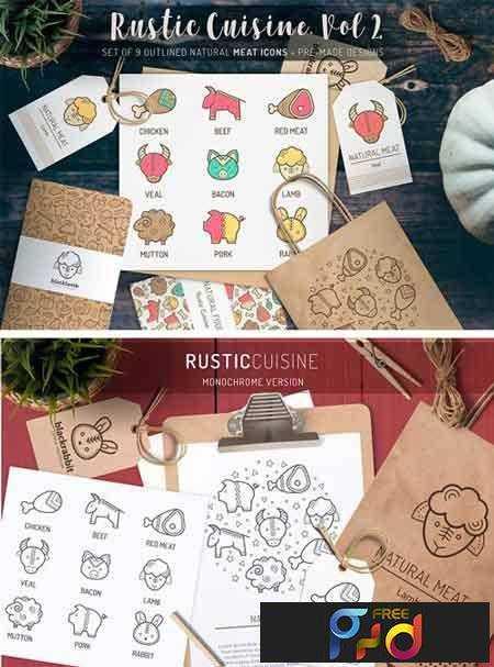 FreePsdVn.com_1702488_VECTOR_rustic_cuisine_meat_icons_design_1187514