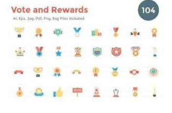 1702490 104 Flat Vote and Rewards Icons 1143960 7
