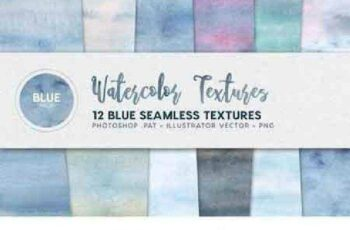 1702494 Watercolor Seamless Textures Blue 5