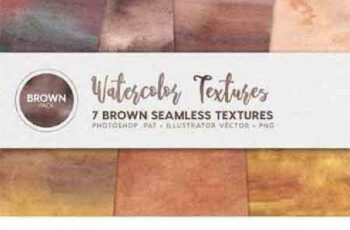 1702495 Watercolor Seamless Textures Brown 2