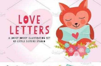 1702499 Love Letters Vector Pack 482467