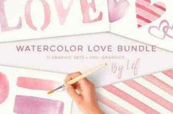 1702512 Watercolor Valentine Limited bundle 1200404 8