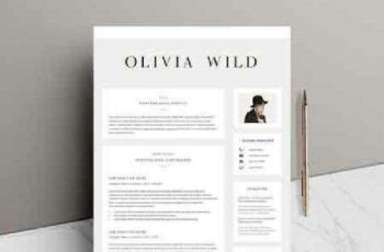 1702521 5 page Resume Template Ultra Chic 1144146 7