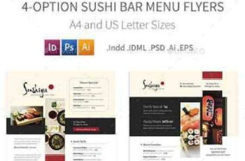 1702527 Sushi Bar Menu Flyers – 4 Options 19273342 4