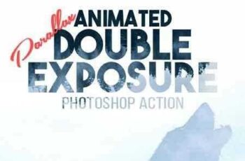 1703025 Animated Parallax Double Exposure Photoshop Action 19532670