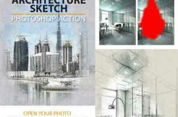 1703027 Architecture Sketch Photoshop Action 19600921 3
