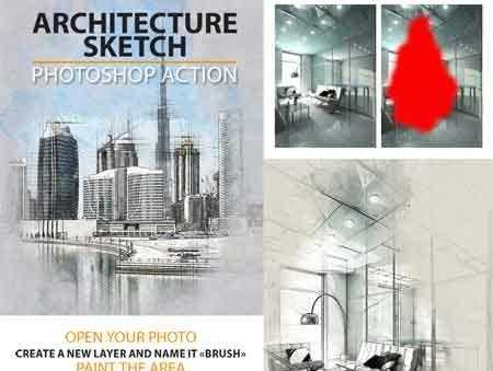 1703027 Architecture Sketch Photoshop Action 19600921 U2022 FreePSDvn