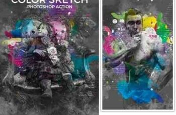 1703029 Color Sketch Photoshop Action 19599521 6