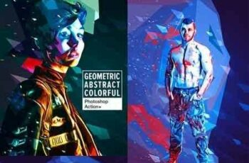1703030 Geometric Abstract Colorful Art - Photoshop Action 19618360 6