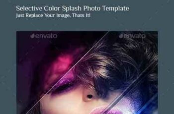 1703047 Selective Color Splash Photo Template 9453705 4