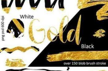 1703060 Golden brush strokes 1296982 2