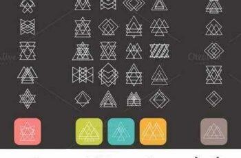 1703069 Set of trendy geometric shapes 327801 6