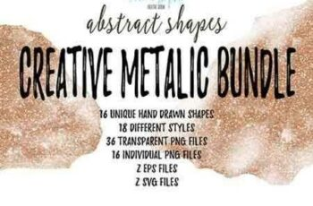1703075 Creative Metalic Shapes Bundle 775490 5