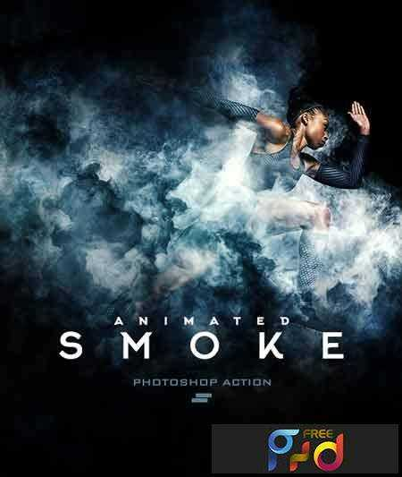1703086 Gif Animated Smoke Photoshop Action 19610841 - FreePSDvn