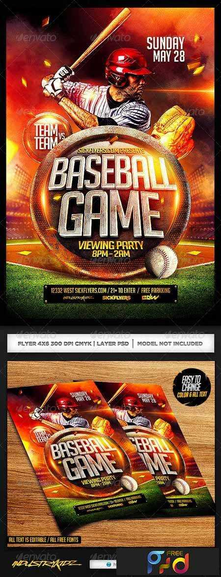 1703102 Baseball Flyer Template Psd 7172103 Free Download