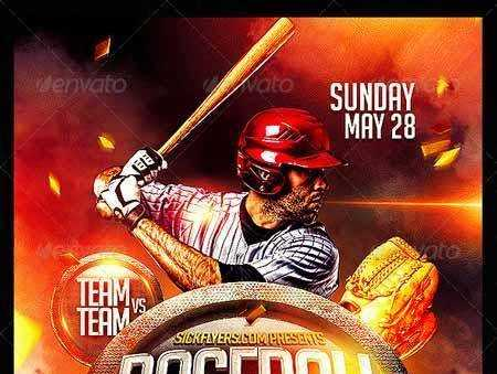 Baseball Flyer Template Psd   Free Psd Download