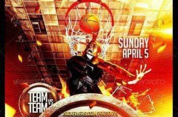 1703103 Basketball Playoffs Flyer PSD 7351212 7