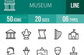 1703108 Museum Line Icons 17953567 3