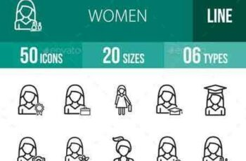 1703115 Women Line Icons 18196099 5